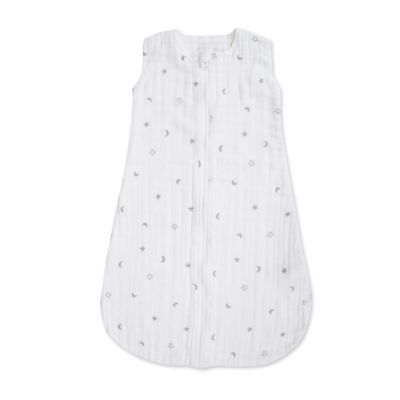 Bebe au Lait® Size 6-12M Luna Muslin Full-Zip Wearable Blanket