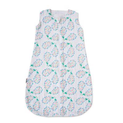 Bebe au Lait® Size 6-12M Peacocks Muslin Full-Zip Wearable Blanket