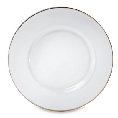 Charge It by Jay! Platinum Rimmed 13-Inch Glass Charger Plate