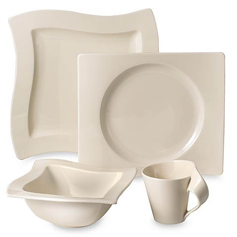 new wave 16 piece dinnerware set by villeroy and boch bed bath beyond. Black Bedroom Furniture Sets. Home Design Ideas