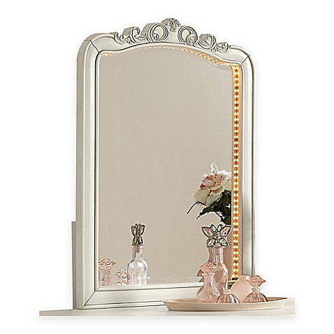 Ne kids kensington lighted vanity dresser mirror in - Bathroom vanities nebraska furniture mart ...