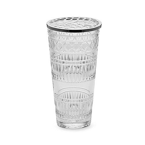 Michael Aram Jaipur 10-Inch Crystal Vase with Metal Lid for Waterford