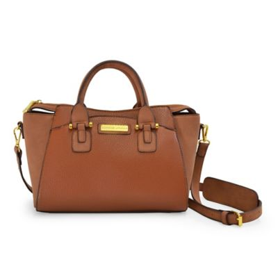 Adrienne Vittadini Pebble Grain Crossbody Bag in Tan