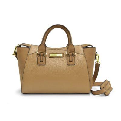 Adrienne Vittadini Pebble Grain Crossbody Bag in Natural