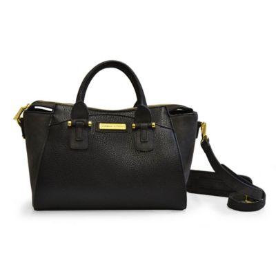Adrienne Vittadini Pebble Grain Crossbody Bag in Black