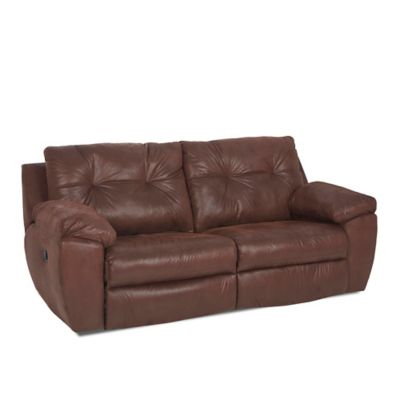 Klaussner® Arco Reclining Sofa in Chocolate