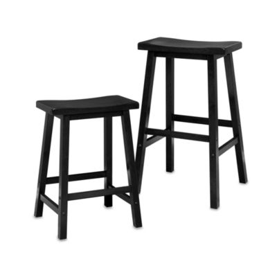 24-Inch Saddle Stool in Black