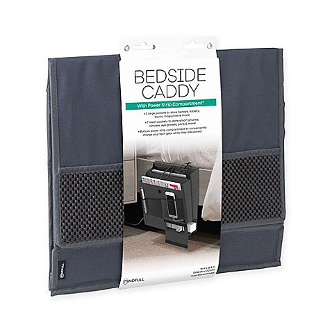 Mindfull Products Bedside Caddy In Grey Bed Bath Amp Beyond