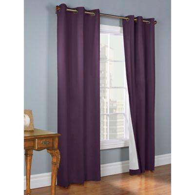 Thermalogic® Weathermate 54-Inch Grommet Top Window Curtain Panel Pair in Aubergine