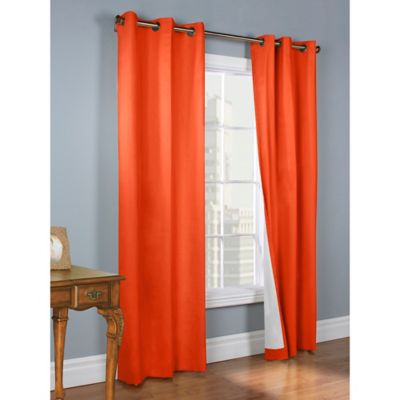 Thermalogic® Weathermate 54-Inch Grommet Top Window Curtain Panel Pair in Coral
