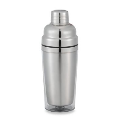 Prodyne Stainless Steel Double Wall Cocktail Shaker in Clear