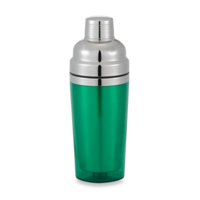 Prodyne Stainless Steel Double Wall Cocktail Shaker in Green