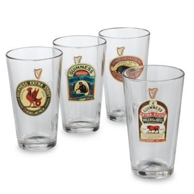 "Luminarc® Guinness® 16-Ounce ""Vintage"" Pub Glasses (Set of 4)"