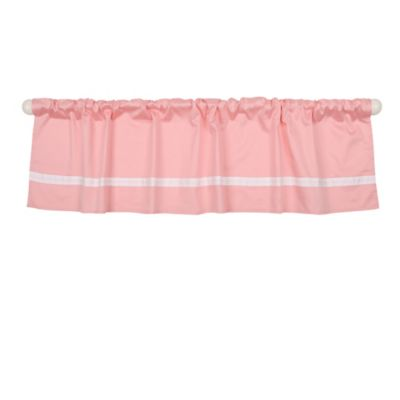 The Peanut Shell® Solid Window Valance in Coral