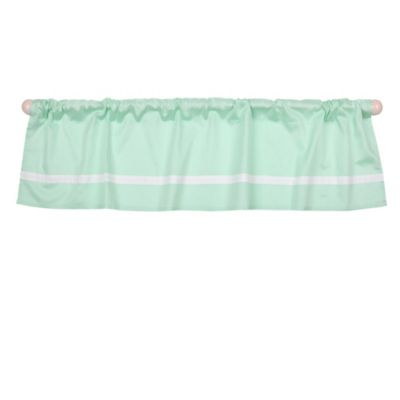 The Peanut Shell® Solid Window Valance in Mint