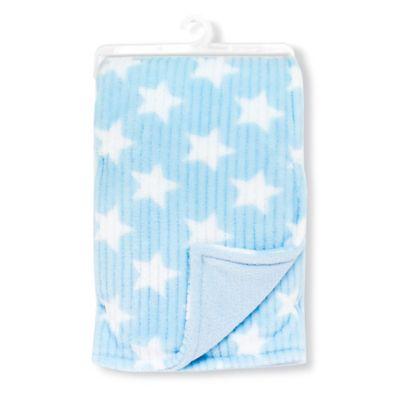 Nuby Cuddly Soft Plush Fleece Baby Blanket in Blue Star