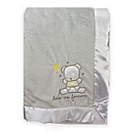 Nuby Cuddly Soft Satin Trimmed Baby Blanket in Grey