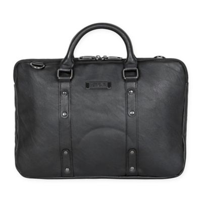 Kenneth Cole Slim Double Gusset Strap Computer Case in Black