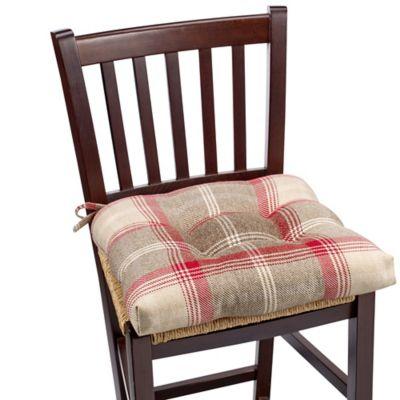 Sam Hedaya Brevard Chair Pad in Plaid