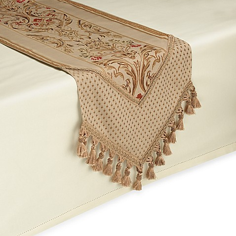 Buy Claudio 90 Inch Table Runner In Gold From Bed Bath