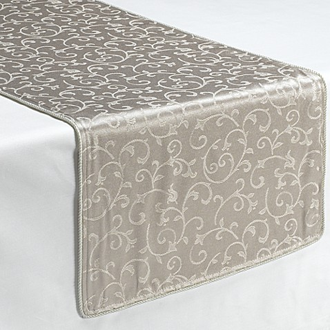 "Runner Innocenceâ""¢ Opal Decorative  table Table Platinum lenox Lenox® runners"