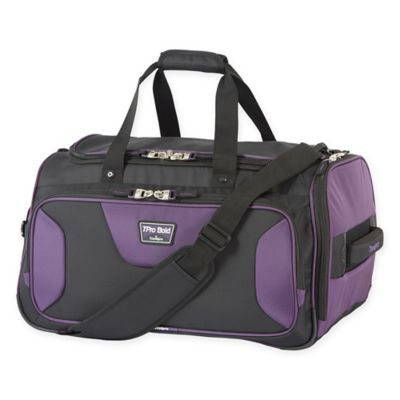 TravelPro® Bold 2 22-Inch Soft Duffle Bag in Black/Purple