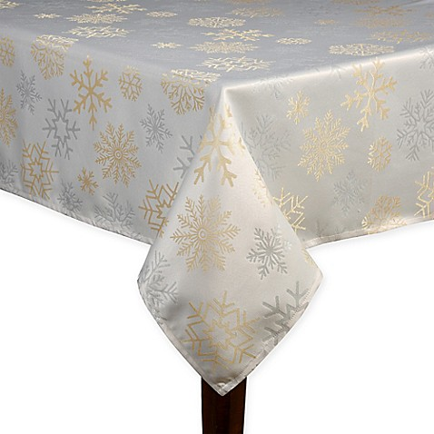 Snowflake Shine Oblong Tablecloth Bed Bath Amp Beyond