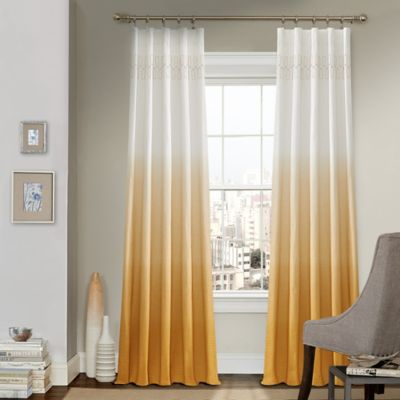 Vue™ Signature Arashi 63-Inch Rod Pocket/Back Tab Window Curtain Panel in Gold