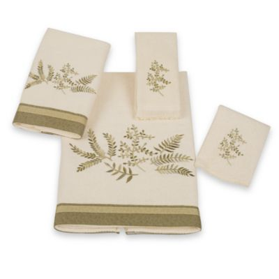 Avanti Greenwood Fingertip Towel in Ivory