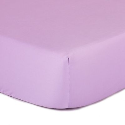 The Peanut Shell® Solid Fitted Crib Sheet in Purple