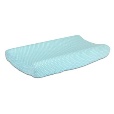 The Peanut Shell® Dots Changing Pad Cover in Teal
