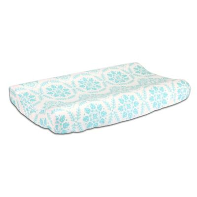 The Peanut Shell® Medallions Changing Pad Cover in Teal