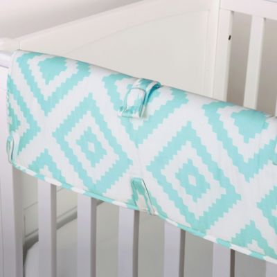 The Peanut Shell® Tile Crib Rail Guard in Teal