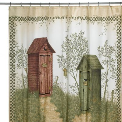 Avanti Outhouses 72-Inch x 72-Inch Shower Curtain
