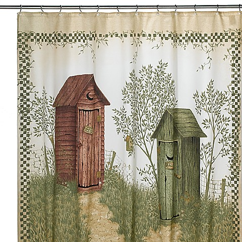 Avanti Outhouses 70-Inch x 72-Inch Shower Curtain