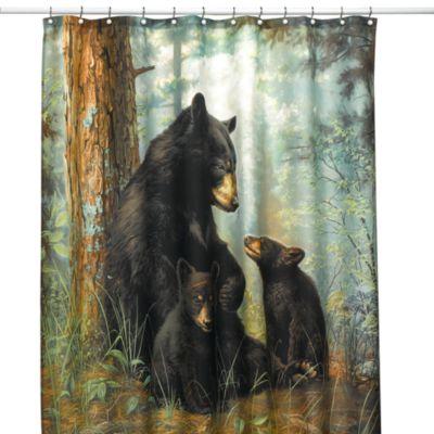 Shower Curtains Moose Motif