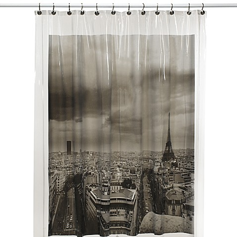 Paris Vinyl Shower Curtain