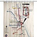 Chicago CTA Map Vinyl Shower Curtain