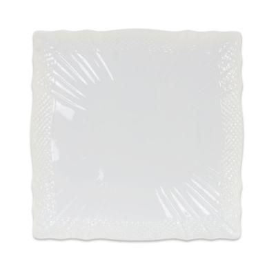 Richard Ginori Vecchio Bianco 10-Inch Square Dinner Plate