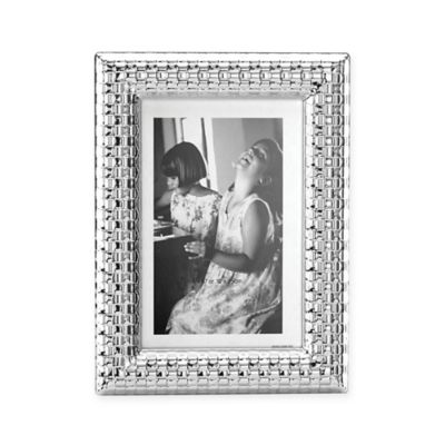 Reed & Barton Watchband 4-Inch x 6-Inch Picture Frame in Silver