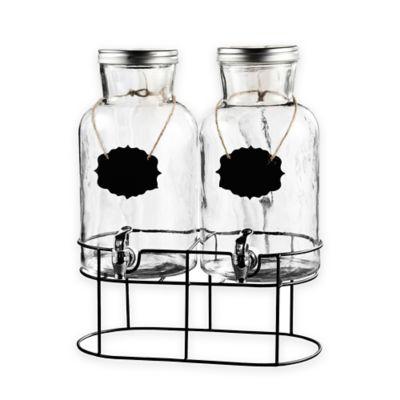 buy blackboard glass beverage dispenser with metal stand from bed bath beyond. Black Bedroom Furniture Sets. Home Design Ideas