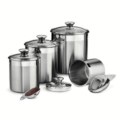 Stainless Steel Glass Canister Set