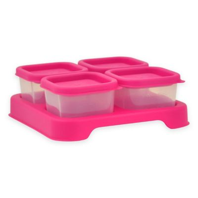 iPlay® 2 oz. 4-Piece Baby Food Cube Set in Pink
