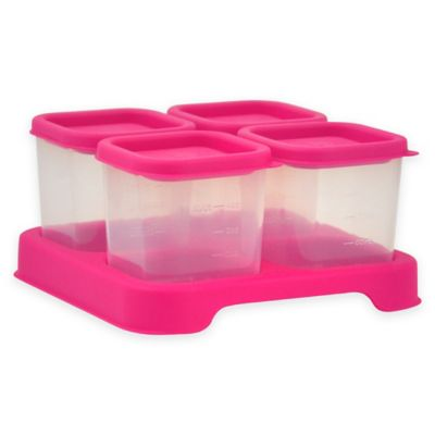 iPlay® 4 oz. 4-Piece Baby Food Cube Set in Pink