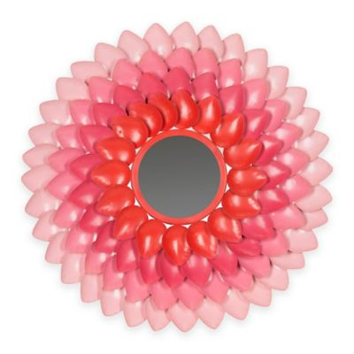 Safavieh Chrissy 1.5-Inch x 27-Inch Round Flower Mirror in Pink