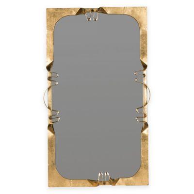 Safavieh Golden Ribbon 2-Inch x 26 -Inch Rectangle Mirror in Antique Gold