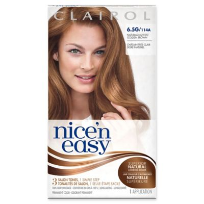 Clairol® Nice 'n Easy Permanent Hair Color 6.5G/114A Natural Lightest Golden Brown
