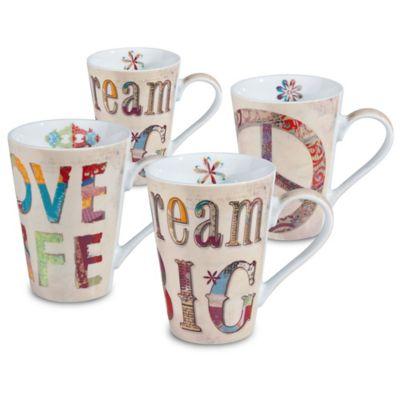 Konitz Peace Dream Love Mugs (Set of 4)