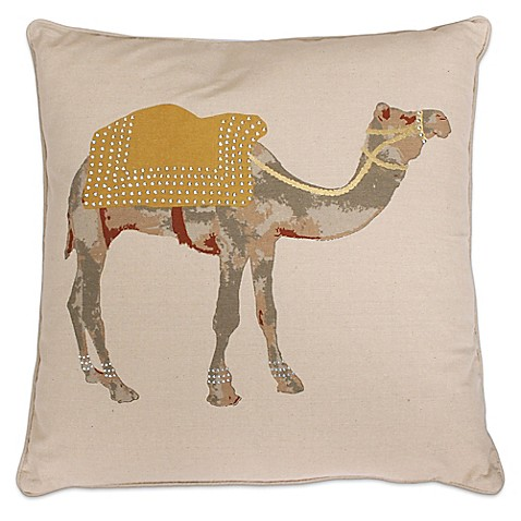 Honey Gold Throw Pillow : Thro Czer Camel Square Throw Pillow - Bed Bath & Beyond