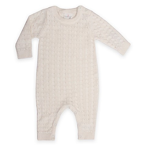 Cuddl Duds 174 Baby Cable Knit Coverall In Ivory Buybuy Baby